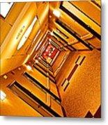 Hotel Hallway Metal Print