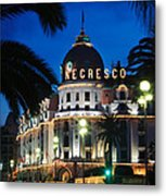 Hotel Negresco Metal Print by Inge Johnsson