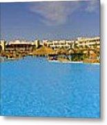 Hotel Resort Panorama Metal Print