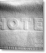 Hotel Towel Metal Print