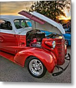 Hotrod Sunset Metal Print