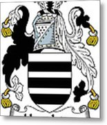Houghton Coat Of Arms Irish Metal Print