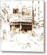 Houndsditch Clothes Exchange 1887 Metal Print by Padre Art