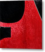 Hour Glass Guitar 4 Colors 1 - Tetraptych - Red Corner - Music - Abstract Metal Print