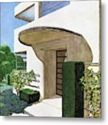 House & Garden Cover Illustration Of A Modern Metal Print