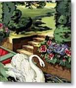 House & Garden Cover Illustration Of A Swan Metal Print