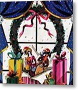 House & Garden Cover Illustration Of Christmas Metal Print
