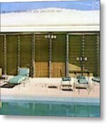 House & Garden Cover Of A Swimming Pool At Miami Metal Print