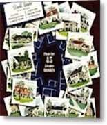 House And Garden Cover Featuring A Collage Metal Print