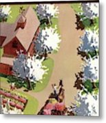 House And Garden Cover Metal Print
