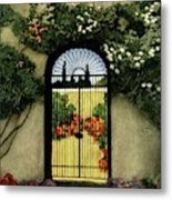 House And Garden Interior Decoration Number Metal Print