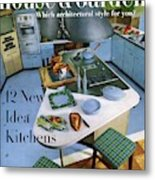 House And Garden Kitchen Ideas Issue Metal Print