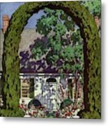House And Garden Small House Number Metal Print