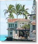 House At Land's End Metal Print