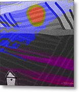 House At The Bottom Of The Hill Metal Print