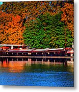 House Boat River Barge In France Metal Print
