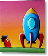 House Builds A Rocketship Metal Print