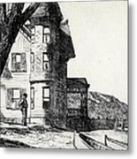 House By A River Metal Print