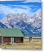 House By The Tetons Metal Print