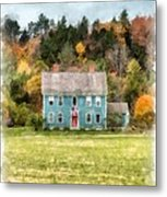 House By The Woods Metal Print