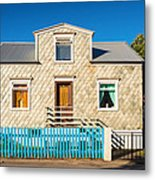 House In Akureyri Iceland Metal Print
