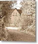 House In Autumn Metal Print