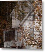 House In Fall Metal Print