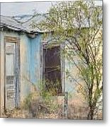 House In Ft. Stockton IIi Muted Metal Print