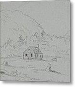House In Mount Desert Metal Print