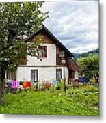 House In The Capathians Village Metal Print