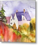 House In The Country Metal Print