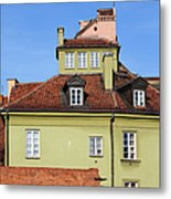 House In The Old Town Of Warsaw Metal Print