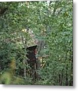 House In The Trees Metal Print