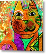 House Of Cats Series - Blinks Metal Print