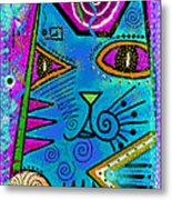 House Of Cats Series - Dots Metal Print