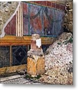 House Of The Silver Wedding, Damaged Metal Print