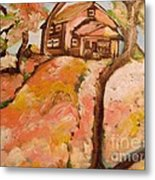 House On The Hill Metal Print by Sidney Holmes