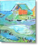 Inlet At Salt Ponds  Metal Print by Brenda Ruark