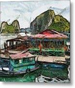 House On The Sea Metal Print by Teara Na