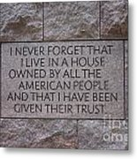 House Owned By The People Metal Print