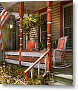 House - Porch - Traditional American Metal Print by Mike Savad