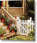 House - Rutherford Nj - My Grandmother's Garden  Metal Print