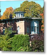 House Surrounded By Autumn Metal Print