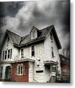 House With Brick Front - American Gothic Metal Print