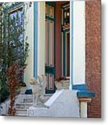 House With Griffin Lafayette Square St Louis Metal Print