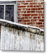 House With Shed 13122 Metal Print