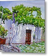 House With Vine In Lebanon Metal Print