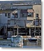 Houseboat In Monterey Harbor Metal Print by Elery Oxford