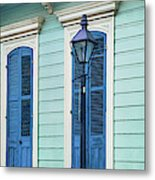 Houses Along A Street, French Quarter Metal Print