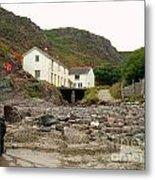 Houses At Kynance Cove Metal Print